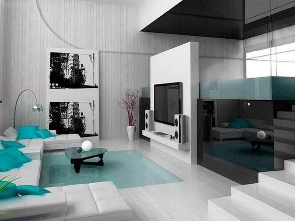 Гостиная в стиле хай-тек: фото и дизайн, интерьер зала, современная мебель, люстра для комнаты