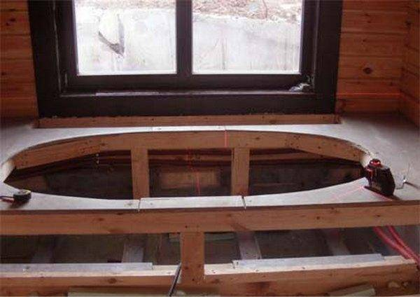 Каркас для ванны: акриловый как собрать, своими руками 170х70, как сделать ножки и сборка рамы, подставка профиля