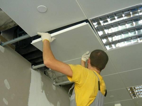 Монтаж и демонтаж потолка Армстронг 8