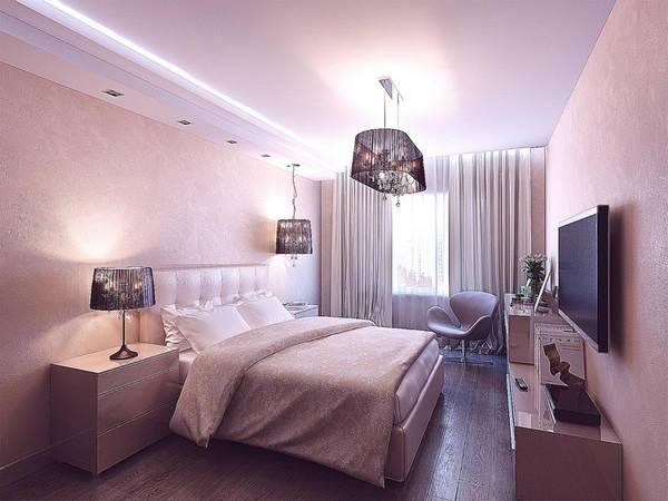Подвесные потолки в спальне: фото навесных, маленькая фотогалерея и дизайн