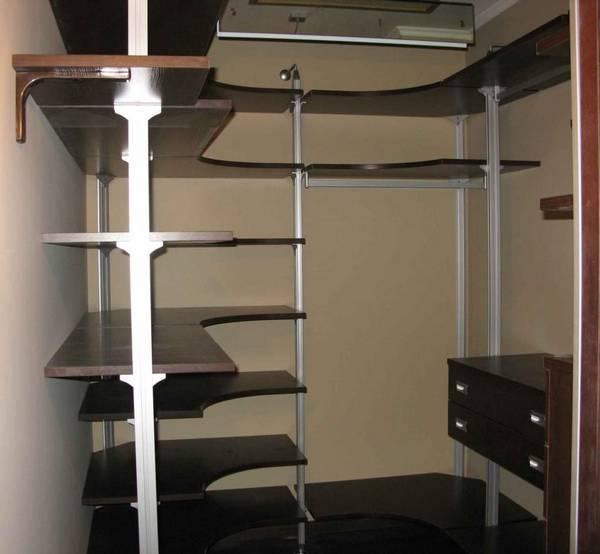 Полки для гардеробной комнаты своими руками