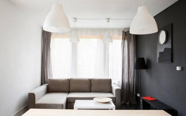 Спальня-гостиная: фото, как сделать из комнаты, оформление дверей 2 в 1, светильники с камином, освещение
